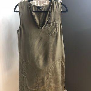 Theory Silk Shift Dress with belt